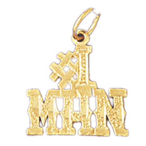 14K GOLD SAYING CHARM - #1 MAN #10113