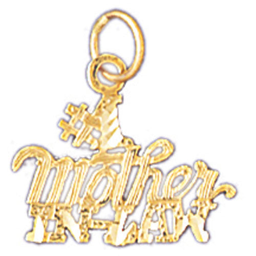 14K GOLD SAYING CHARM - #1 MOTHER IN LAW #10482