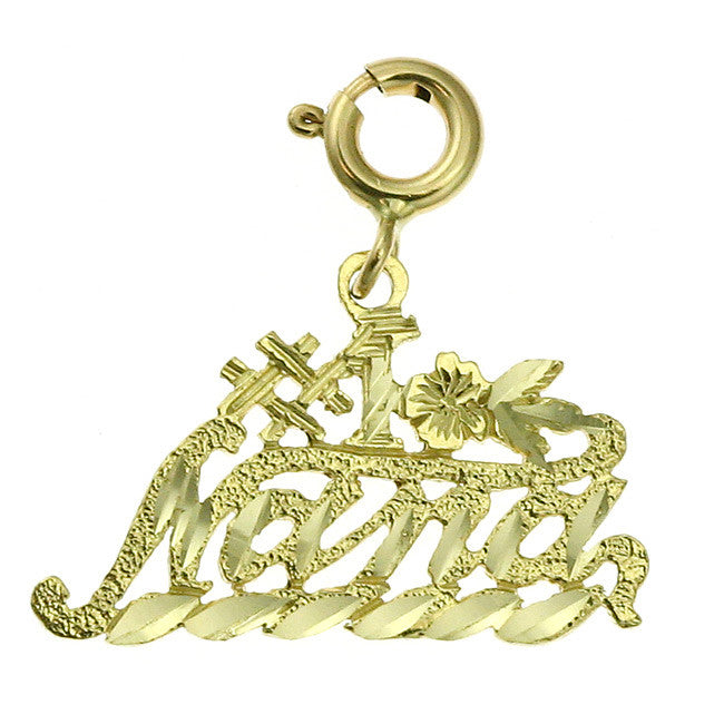 14K GOLD SAYING CHARM - #1 NANA #10494