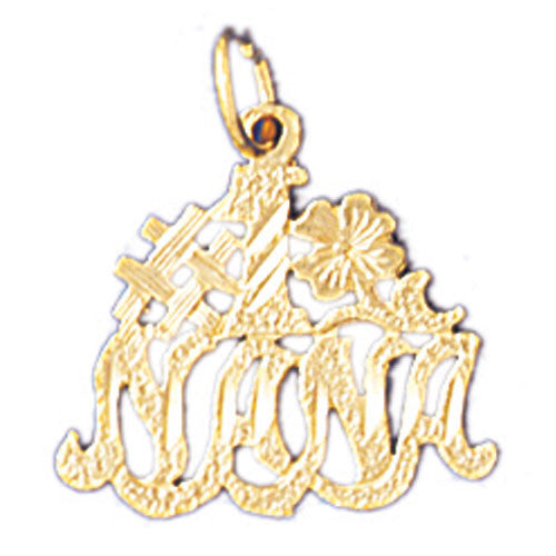 14K GOLD SAYING CHARM - #1 NANA #10495