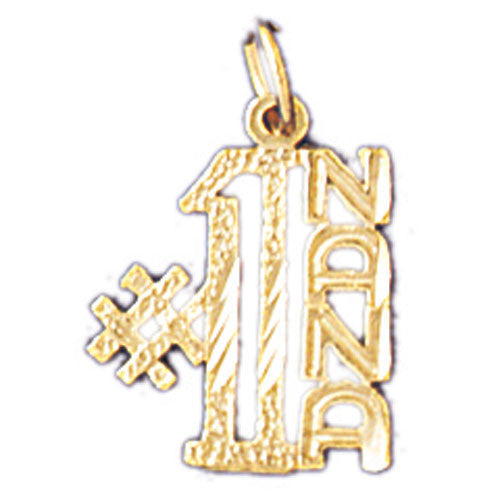 14K GOLD SAYING CHARM - #1 NANA #10497
