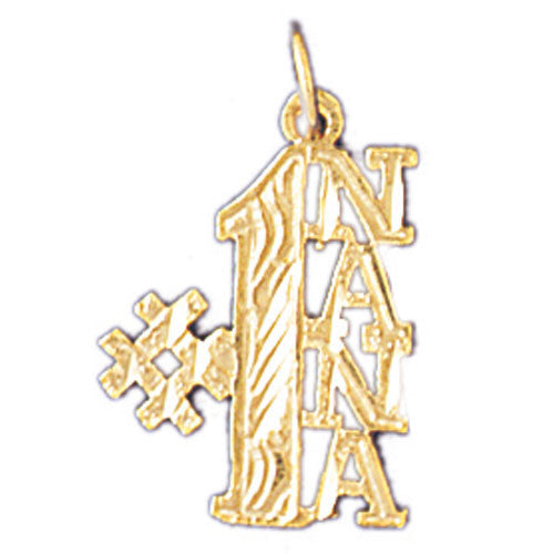14K GOLD SAYING CHARM - #1 NANA #10498