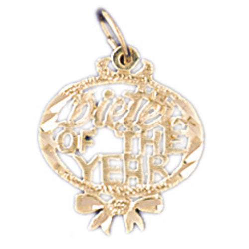 14K GOLD SAYING CHARM - DIETER OF THE YEAR #10538