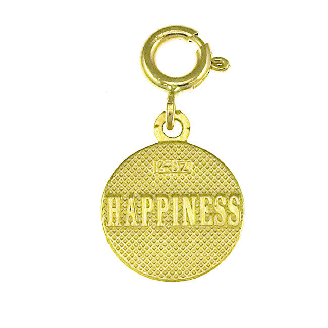 14K GOLD SEVEN WISHES CHARM - HAPPINESS #6487
