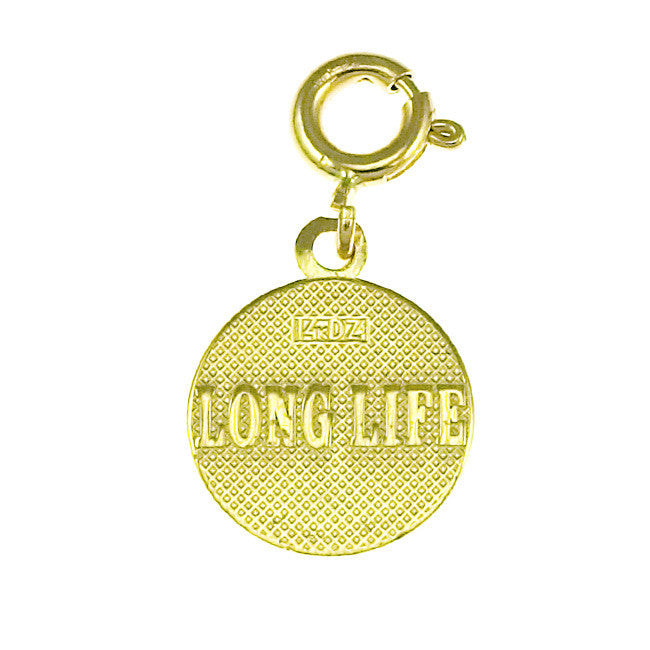14K GOLD SEVEN WISHES CHARM - LONG LIFE #6486