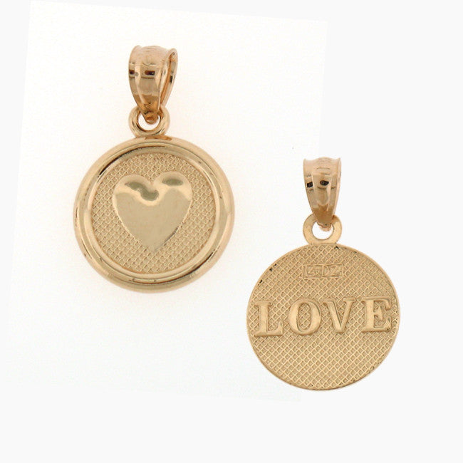 14K GOLD SEVEN WISHES CHARM - LOVE #6483