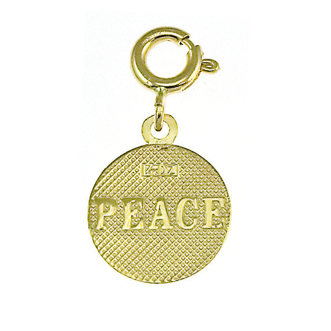 14K GOLD SEVEN WISHES CHARM - PEACE #6482