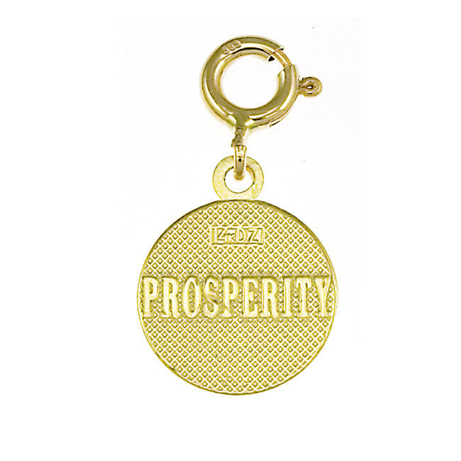 14K GOLD SEVEN WISHES CHARM - PROSPERITY #6481