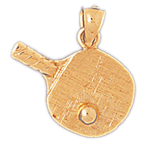 14K GOLD SPORT CHARM -TABLE  TENNIS RACKET # 3316