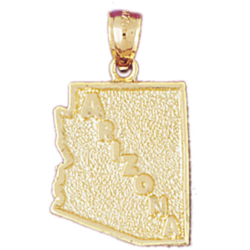 14K GOLD STATE MAP CHARM - ARIZONA #5075