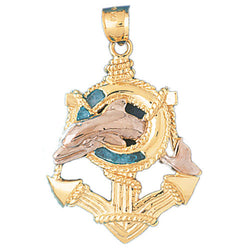 14K GOLD TWO TONE NAUTICAL CHARM #191