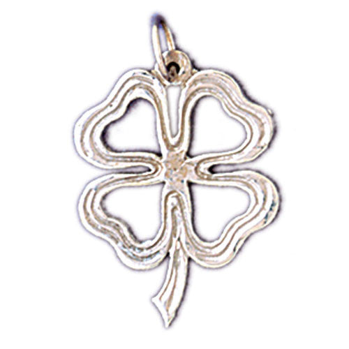 14K WHITE GOLD 4 LEAF CLOVER CHARM #11207