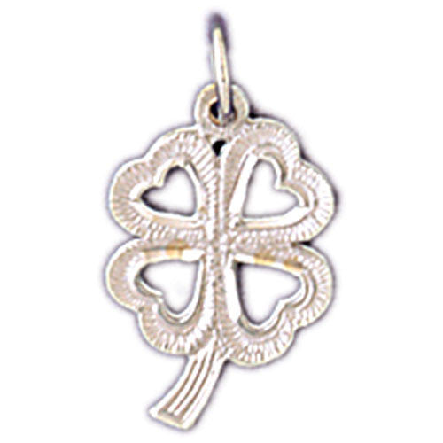 14K WHITE GOLD 4 LEAF CLOVER CHARM #11208