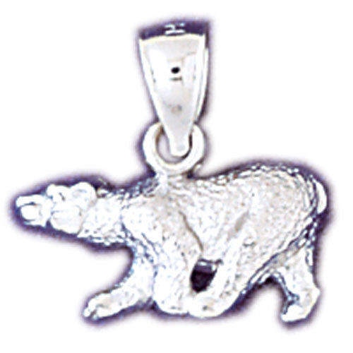 14K WHITE GOLD ANIMAL CHARM - BEAR #11079