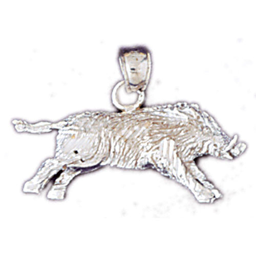 14K WHITE GOLD ANIMAL CHARM - BOAR #11080