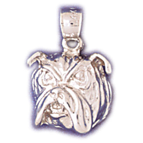 14K WHITE GOLD ANIMAL CHARM - BULLDOG #11128
