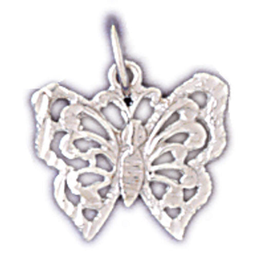 14K WHITE GOLD ANIMAL CHARM - BUTTERFLY #11103