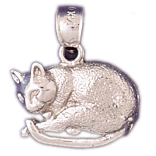14K WHITE GOLD ANIMAL CHARM - CAT #11142