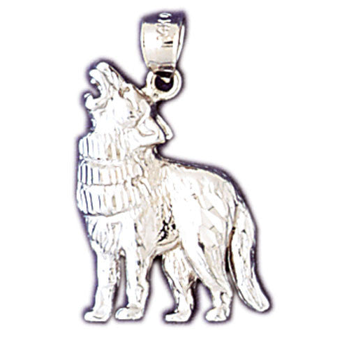 14K WHITE GOLD ANIMAL CHARM - COYOTE #11075