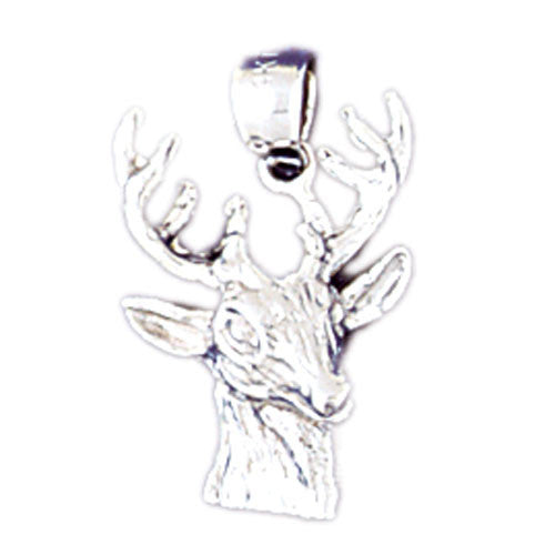 14K WHITE GOLD ANIMAL CHARM - DEER #11070