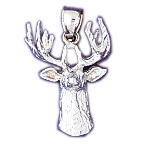 14K WHITE GOLD ANIMAL CHARM - DEER #11071