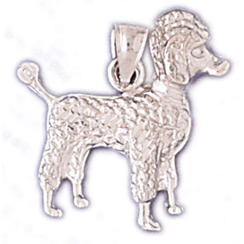 14K WHITE GOLD ANIMAL CHARM - DOG #11129