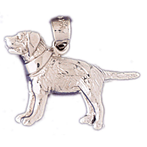 14K WHITE GOLD ANIMAL CHARM - DOG #11131