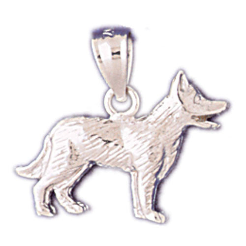 14K WHITE GOLD ANIMAL CHARM - DOG #11132