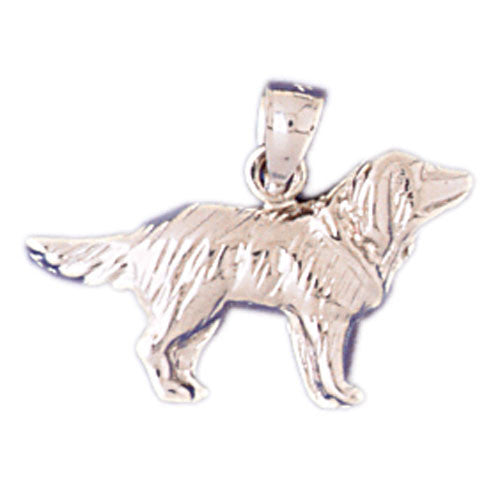 14K WHITE GOLD ANIMAL CHARM - DOG #11133