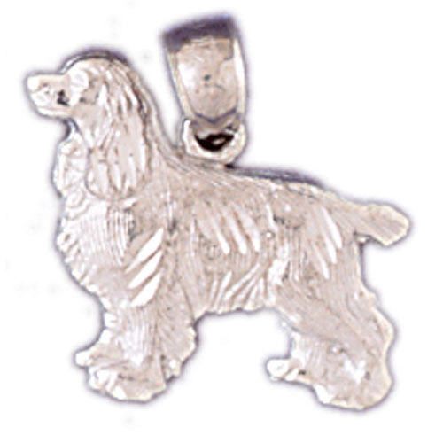 14K WHITE GOLD ANIMAL CHARM - DOG #11136