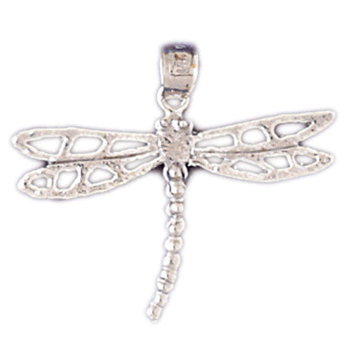 14K WHITE GOLD ANIMAL CHARM - DRAGONFLY #11108