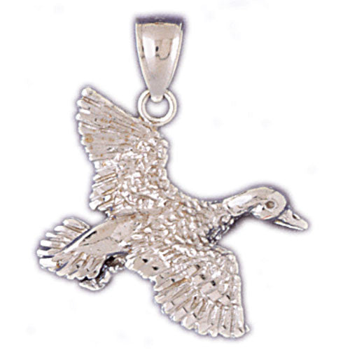 14K WHITE GOLD ANIMAL CHARM - DUCK #11098