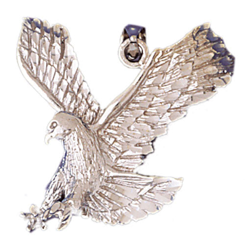 14K WHITE GOLD ANIMAL CHARM - EAGLE #11091