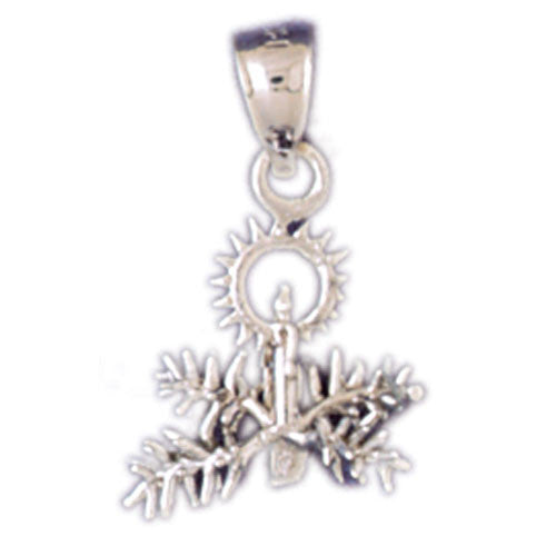 14K WHITE GOLD CHRISTMAS CHARM - CHRISTMAS DECORATION #11327