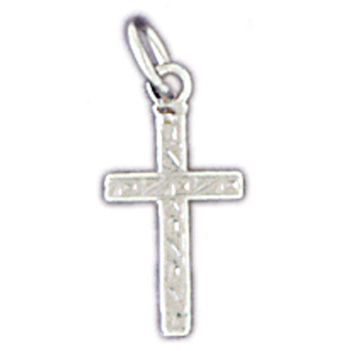 14K WHITE GOLD RELIGIOUS CHARM - SMALL CROSS #11416