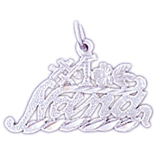 14K WHITE GOLD SAYING CHARM - #1 NANA #11549