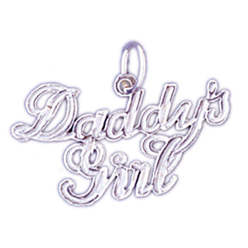 14K WHITE GOLD SAYING CHARM - DADDY'S GIRL #11550