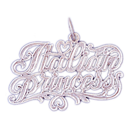 14K WHITE GOLD SAYING CHARM - ITALIAN PRINCES #11559