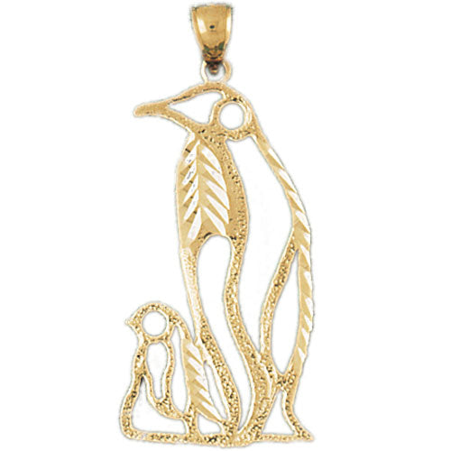 14K GOLD ANIMAL CHARM - PENGUIN, We Specialize in 14Kt Gold charms, 14k gold Pendants,14k gold necklaces,14k Gold Bracelets,14k Gold Earrings,14k Gold Rings.