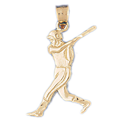 14K GOLD SPORT CHARM - BASEBALL, We Specialize in 14Kt Gold charms, 14k gold Pendants,14k gold necklaces,14k Gold Bracelets,14k Gold Earrings,14k Gold Rings.