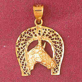 14K GOLD CHARM - HORSESHOE #3769