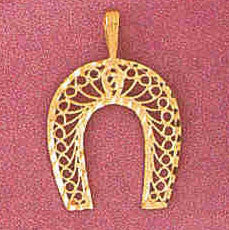 14K GOLD CHARM - HORSESHOE #3771