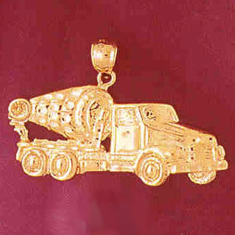 14K GOLD CONSTRUCTION CHARM - CEMENT MIXER # 4312