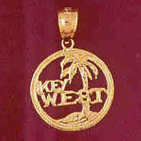 14K GOLD TRAVEL CHARM - KEY WEST #4851