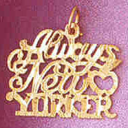 14K GOLD TRAVEL CHARM - ALWAYS NEW YORKER #4886