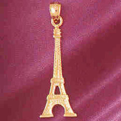 14K GOLD EIFFEL TOWER CHARM/PENDANT # 4913