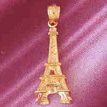 14K GOLD EIFFEL TOWER CHARM/PENDANT 3D # 4914