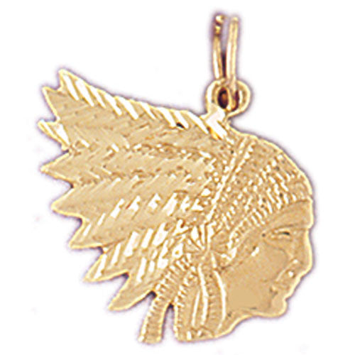 14K GOLD CHARM - AMERICAN INDIAN #5265