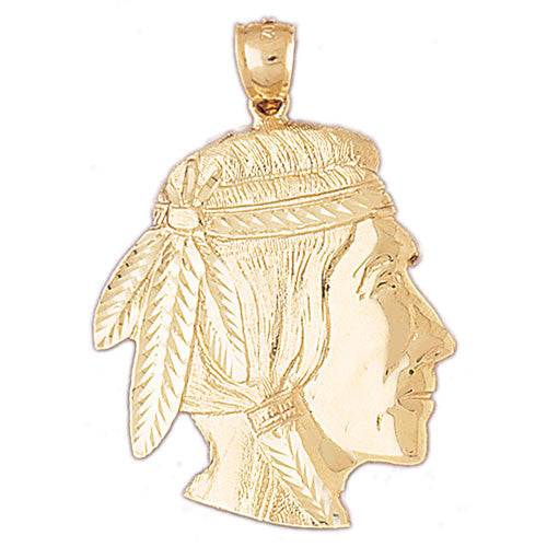 14K GOLD CHARM - AMERICAN INDIAN #5267