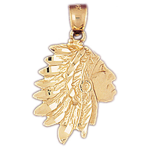 14K GOLD CHARM - AMERICAN INDIAN #5269